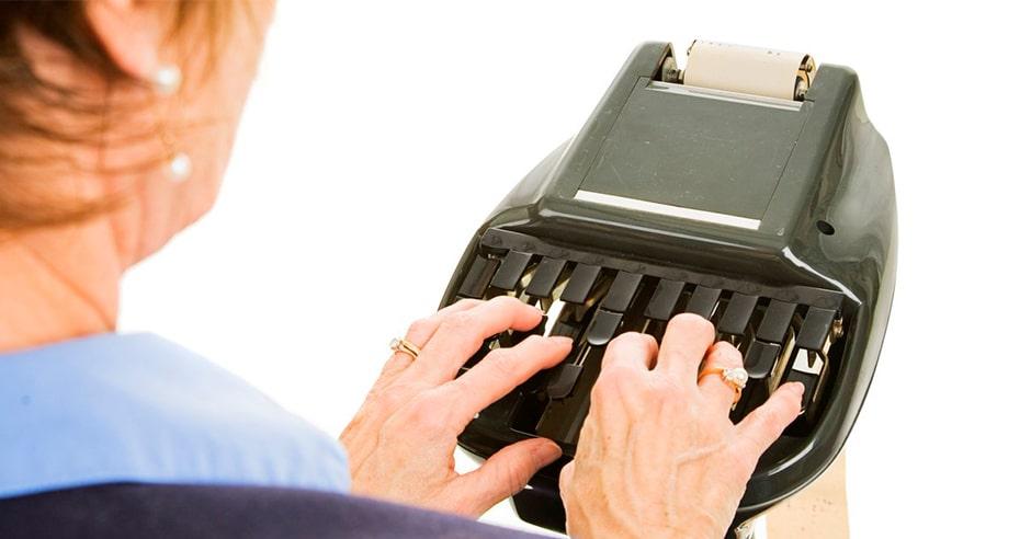 Audio a Texto, La Taquigrafía-